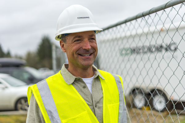 Cory Redding of CD Redding at Commercial Construction project